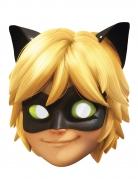 Careta cartón Gato negro Miraculous Lady Bug™ niña