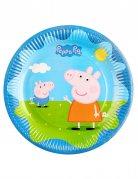 6 Platos de cartón Peppa Pig™ 23 cm