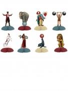 8 Mini centros de mesa circo vintage 12.7 cm