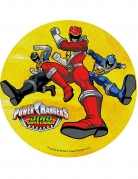 Disco amarillo ácimo Power Rangers™ 21 cm