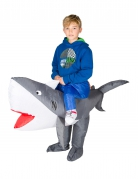 Disfraz tiburón inflable niña