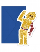 6 Tarjetas de invitación y sobres Star Wars Forces™