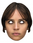 Máscara cartón jyn Erso Star Wars Rogue One™